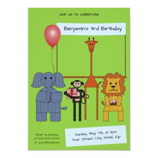 Jungle Animals Birthday Party Invitation - |n. 2|