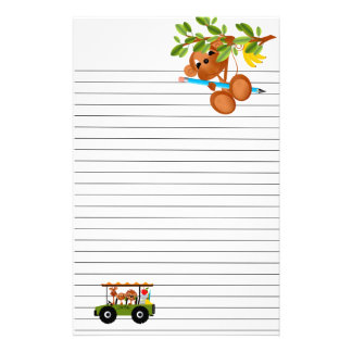 Jungle Animals Go to School Stationery