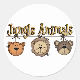 Jungle Animals Mobile Classic Round Sticker