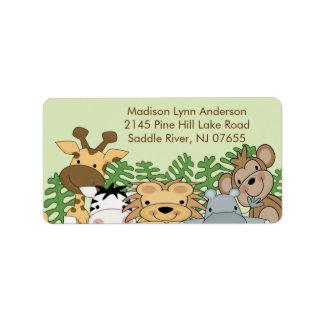 Jungle Animals Return Address Label