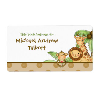 Jungle Babies - Book Label