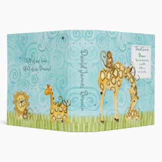 Jungle Babies Giraffe Baby Book Binder Scrapbook