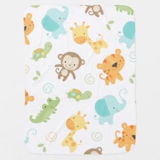 Jungle Babies Stroller Blankets