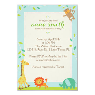Jungle Baby Shower Card