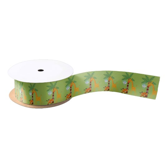 Jungle Baby shower ribbon Satin Ribbon