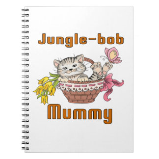 Jungle-bob Cat Mom Spiral Notebooks