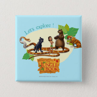 Jungle Book Group Shot 4 2 Inch Square Button