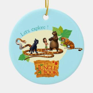Jungle Book Group Shot 4 Round Ceramic Ornament