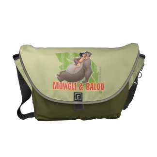 Jungle Book's Mowgli and Baloo Hugging Commuter Bag