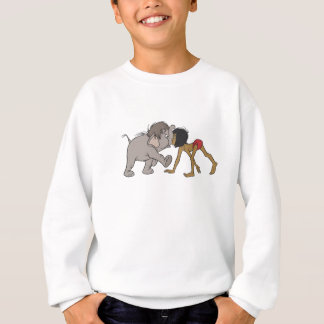 Jungle Book's Mowgli With Baby Elephant Disney Sweatshirt