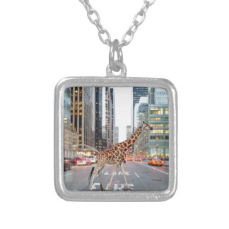 jungle city silver plated necklace