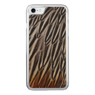 Jungle cock feathers close-up carved iPhone 7 case