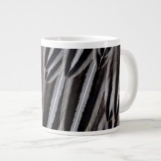 Jungle cock feathers close-up large coffee mug