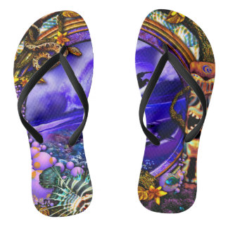 Jungle fever thongs flip flops