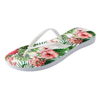 Jungle Flora Flip Flops
