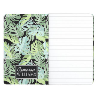 Jungle Floral Pattern | Add Your Name Journals
