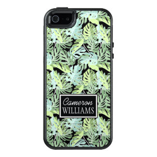 Jungle Floral Pattern | Add Your Name OtterBox iPhone 5/5s/SE Case