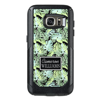 Jungle Floral Pattern | Add Your Name OtterBox Samsung Galaxy S7 Case