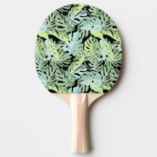 Jungle Floral Pattern Ping-Pong Paddle