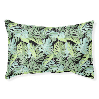 Jungle Floral Pattern Small Dog Bed