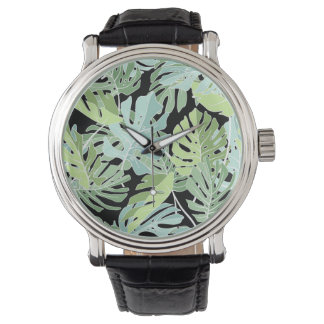 Jungle Floral Pattern Wristwatch
