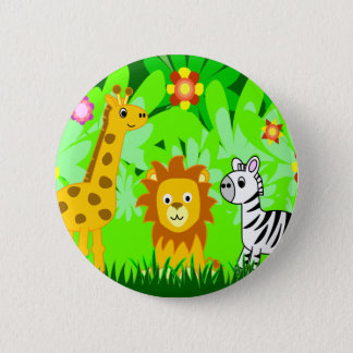 Jungle Friends 2 Inch Round Button