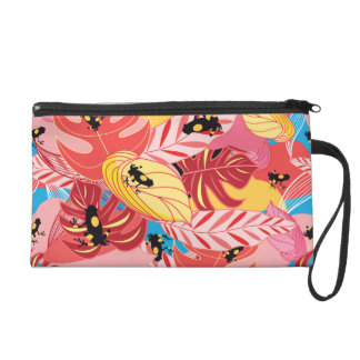 Jungle Frogs Wristlet Purse