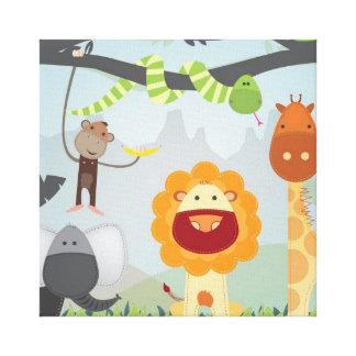 Jungle Fun Stretched Canvas Print