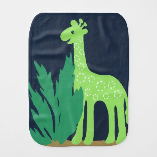 Jungle Giraffe, Green & Blue Safari Sky Match Burp Cloth