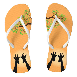 Jungle Giraffes Flip Flops