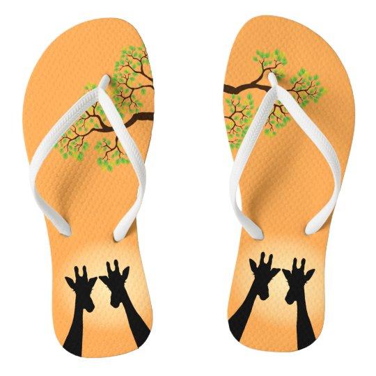 Jungle Giraffes Flip Flops