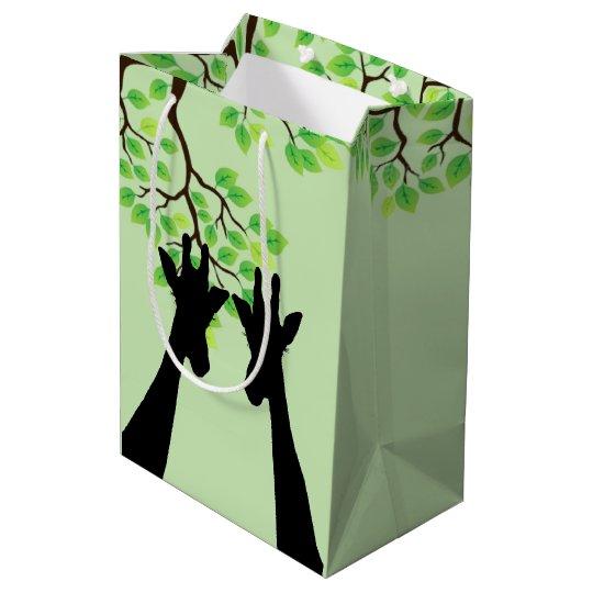 Jungle Giraffes Medium Gift Bag