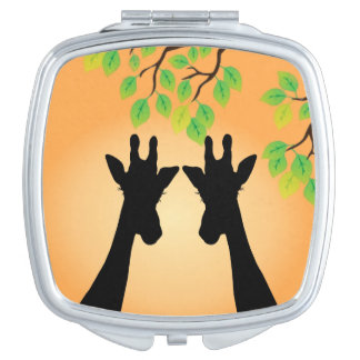 Jungle Giraffes Mirror For Makeup