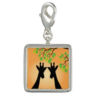Jungle Giraffes Photo Charms