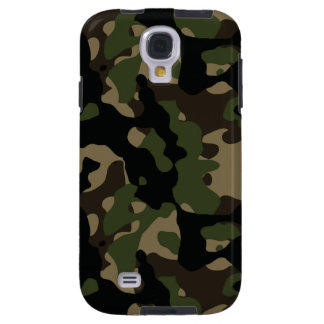 Jungle Green and Brown Military Camo Galaxy S4 Case