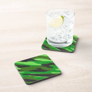 jungle green army camouflage textured coaster