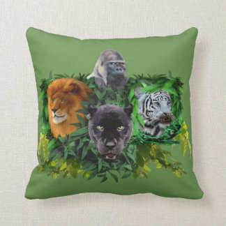 JUNGLE GUARDIANS THROW PILLOW