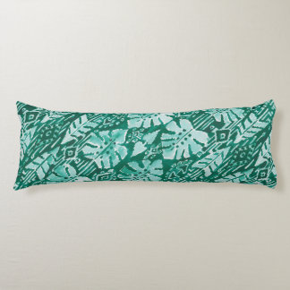 JUNGLE IKAT Hawaiian Green Tribal Tropical Body Pillow