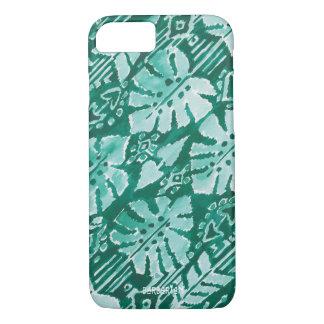 JUNGLE IKAT Hawaiian Green Tribal Tropical iPhone 8/7 Case