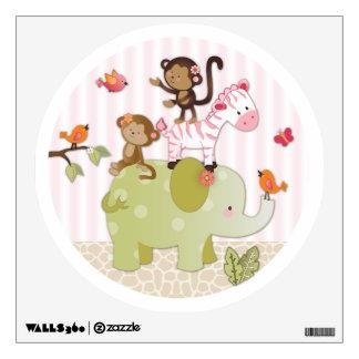 Jungle Jill Animals Nursery Wall Decal
