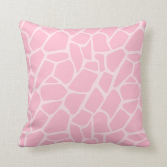 Jungle Jill Giraffe Pink Pattern Decorative Pillow