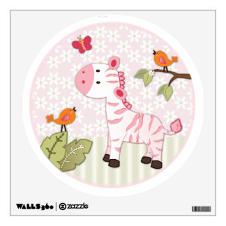 Jungle Jill Zebra Nursery Wall Sticker