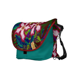 Jungle Leaves and Flowers Commuter Bag