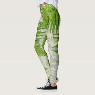 Jungle Leaves Ferns All Over Print Leggings