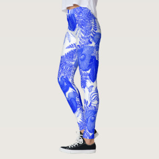 Jungle Leaves Ferns Floral All Over Print Leggings