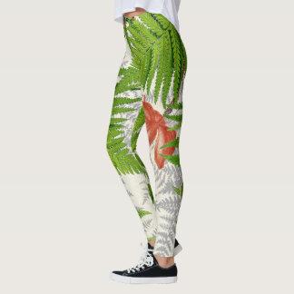 Jungle Leaves Ferns Flower All Over Print Leggings