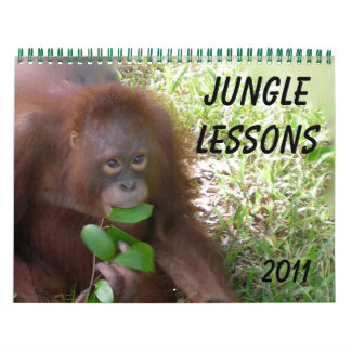 Jungle Lessons wildlife calendar