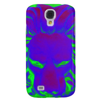 Jungle Lion blue ans green phone case