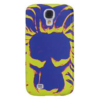 Jungle Lion navy amd yellow phone case
