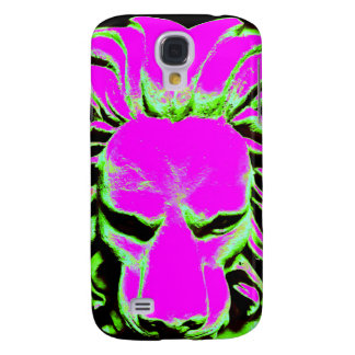 Jungle Lion purple and black phone case